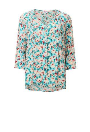 Adini Ella Print Jada Tunic – Soft Turquoise
