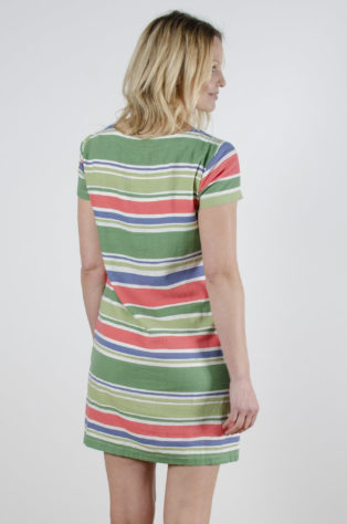 Linen Stripe Shift Dress Stripe Linen