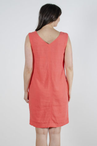 Sleeveless Shift Dress – Paradise Pink
