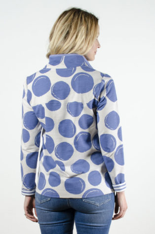 Hatty (Funnel Neck) Sweatshirt Mono Circles