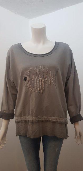 Diverse – Fishbone Sweatshirt – Distressed Grey