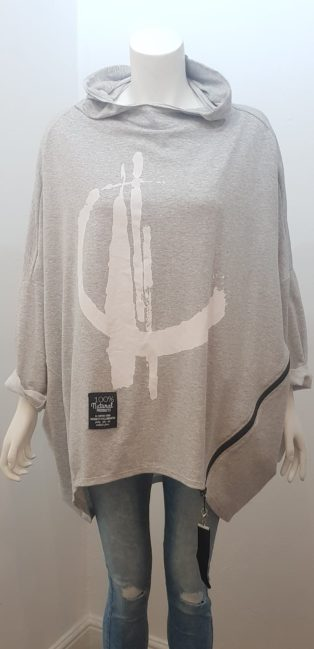Diverse – Hooded Paint Splash Sweatshirt – Grey
