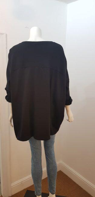Diverse – Sloppy Joe Batik Motif Sweatshirt – Black