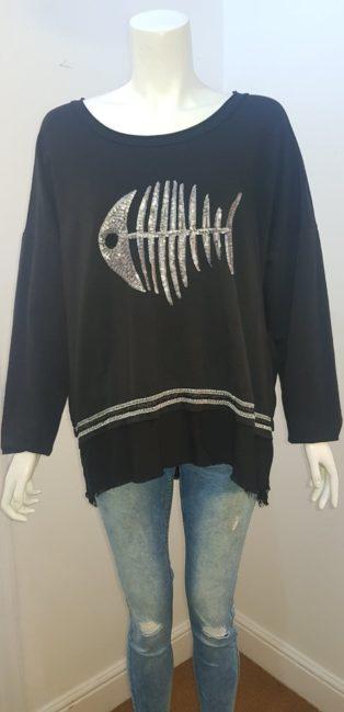 Diverse – Fishbone Sweatshirt – Black
