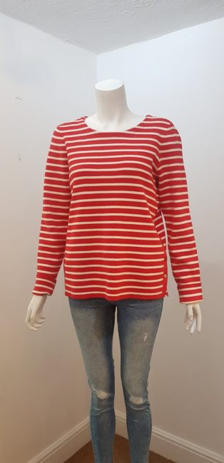 VeroModa – Sailor Stripe Knit – Red & Cream