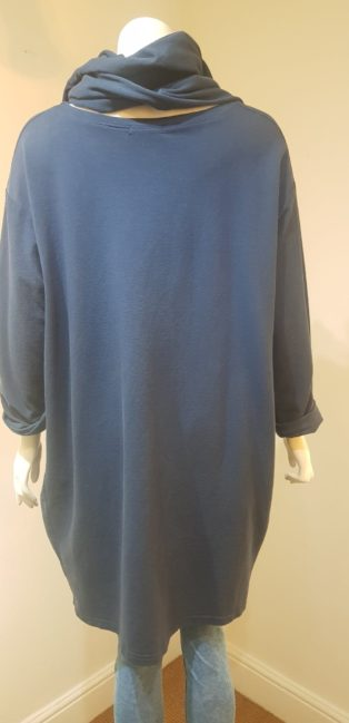 Diverse – Oversized Sweatshirt & Scarf – Navy