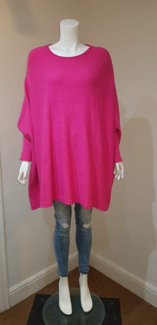 Studio – Poncho One Size – Cerise Pink – Knitted