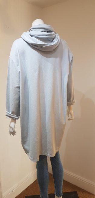 Diverse – Oversized Seatshirt & Scarf – Light Grey