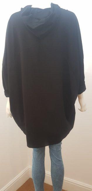 Diverse – Hooded Paint Splash Sweatshirt – Black