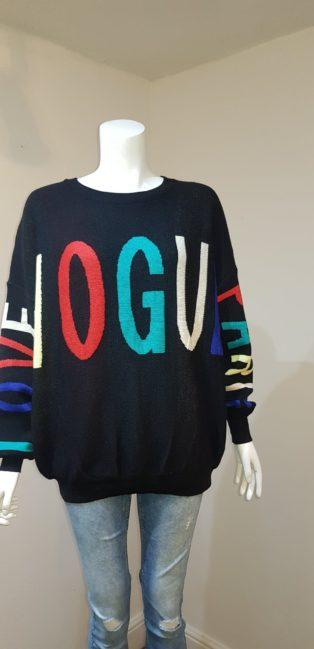 Made In Italy – Love, Vogue, Paris Jumper – Black