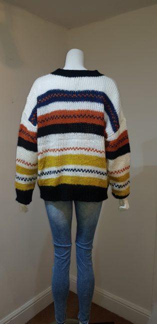 Luzabelle – Fairisle Knit – Black, Navy, White, Terracota & Mustard