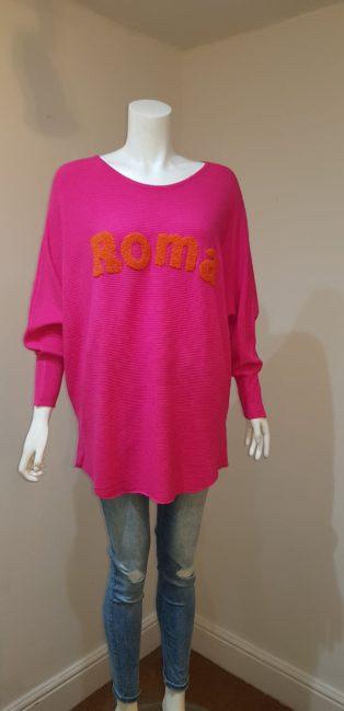 "Laetitia Mem – ""Roma"" Knit – Cerise Pink"