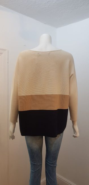 Vero Moda – Nellie Glory Knit – Birch with Camel & Navy