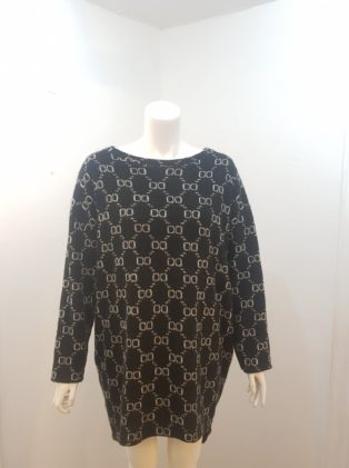 Made In Italy – One Size Tunic/Dress – Black & White