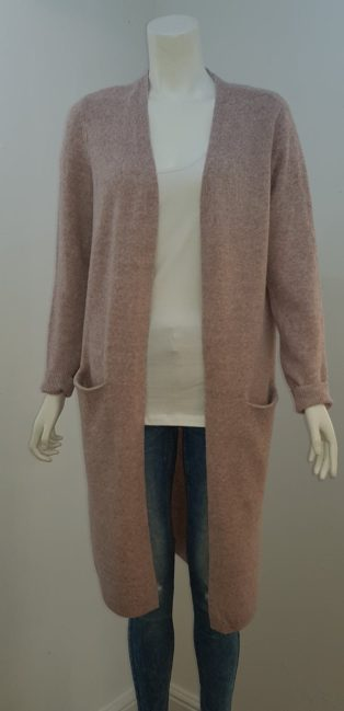 Vero Moda – Doffy Long Sleeve Cardigan – Rose Melange