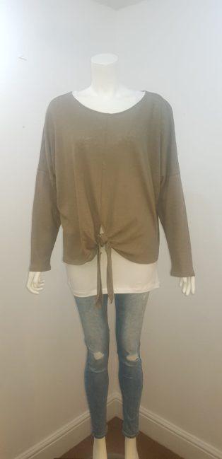 Eb & Ive -Bodega Tie T.Shirt – Moss