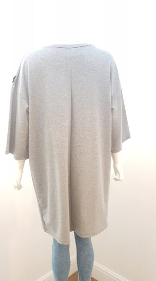 Made In Italy – Tunic/Dress with Black Zip on Side – Grey