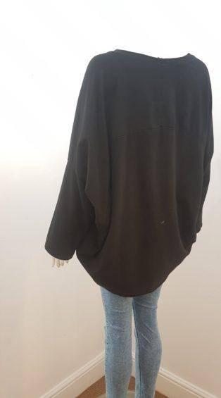 Studio – Abstract Paint  Splash Sweatshirt – Black