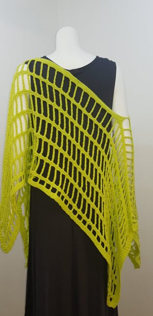 Cover-Up – Loose Crocheted  Overtop – Lime