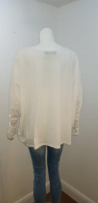 Eb & Ive – Bodega T.Shirt with Velvet – White