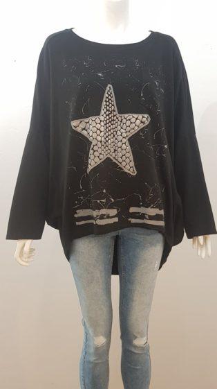 Studio – Starfish Sweatshirt – Black
