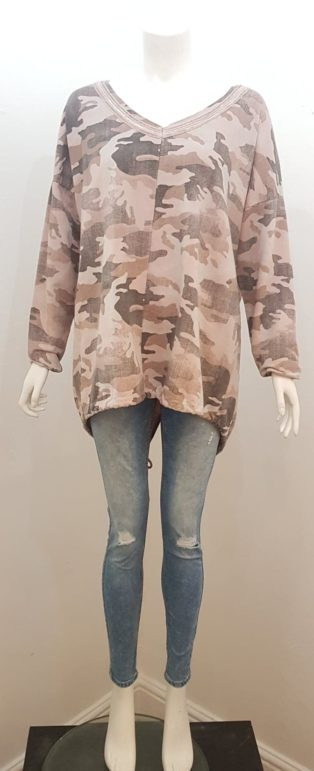 Diverse – Camouflage Tunic – Pink