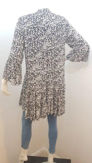 Diverse – Tiered Smock Dress/Tunic – Black & White Print