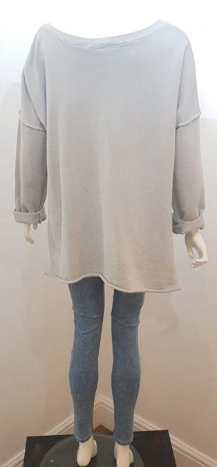 Studio – Skull Sweatshirt – Silver Grey
