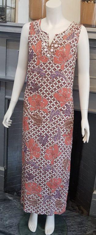 Pomodoro – Honeycombe Long Dress – Coral
