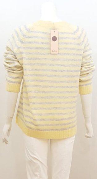 Saint Tropez – Striped Knitwear – Yellow with Grey