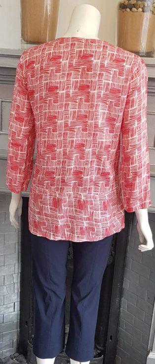 Capri – Print Tunic – Red & White