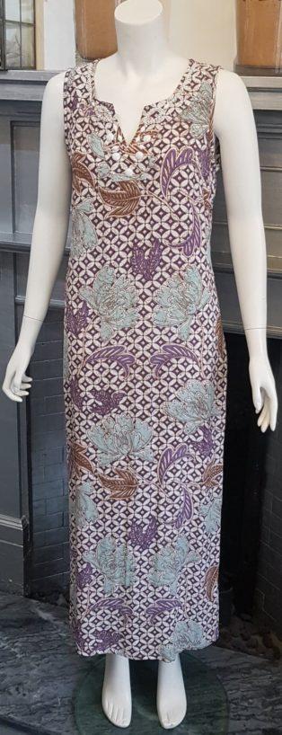 Pomodoro – Honeycombe Long Dress – Duck Egg Blue