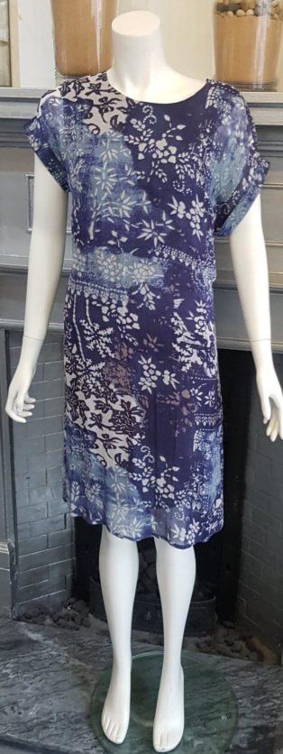 Pomodoro – Batik Patchwork Dress – Indigo Blue