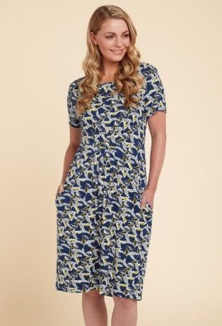 Adini Lara Print Addie Dress – Blue