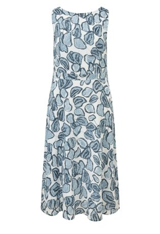 Adini Oasis Print Makayla Dress – Ripple Blue