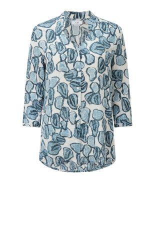 Adini Oasis Print Shannon Tunic – Ripple Blue