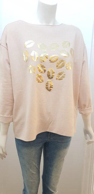 Studio – Lips Sweatshirt – Pastel Pink
