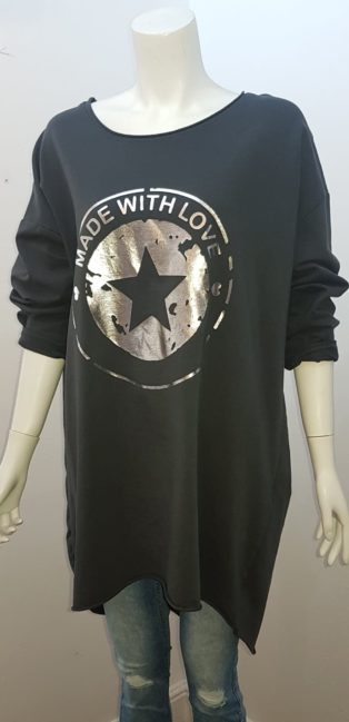 Diverse – Made With Love – Light Sweatshirt – black