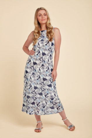 Adini Siri Dress Anguilla Print – Royal Blue