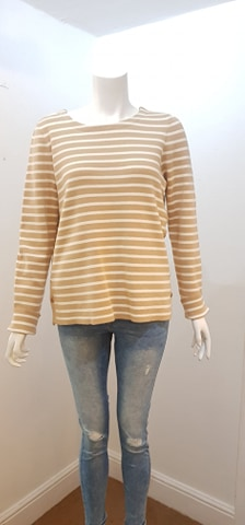 Vero Moda – Sailor Stripe Knit – Sand & Cream