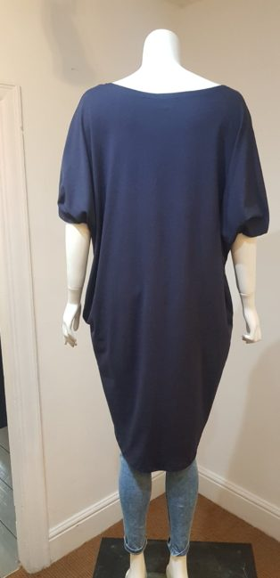 Made In Italy – Rock T.Shirt/Dress – Navy