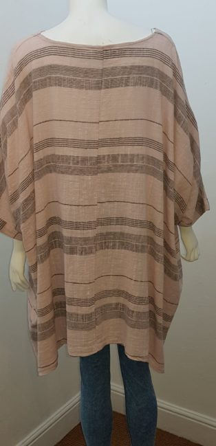 Diverse – Stripe Linen Top – Pink