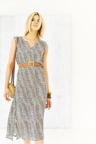 Adini Faith Maxi Dress – Safari Spot Print