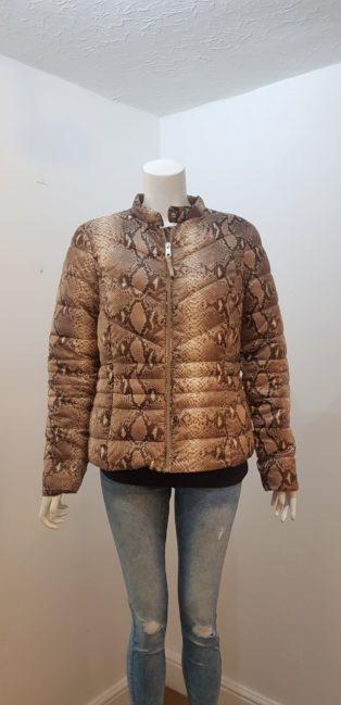 Vero Moda – Soraya Zip Short Jacket – Silver Mink/Snake