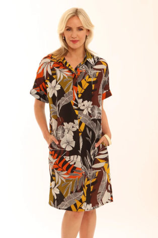 Pomodoro Safari Shirt Dress