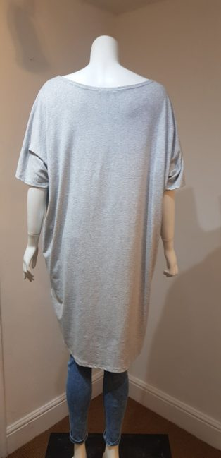 Made In Italy – Rock T.Shirt/Dress – Melange Grey