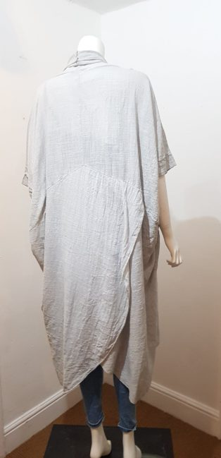 Diverse – Oversized Crossover Tunic – Light Grey