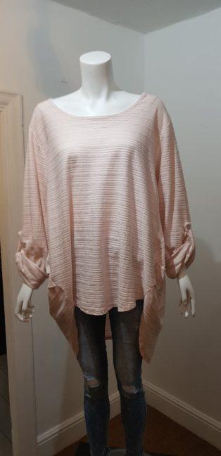 Diverse – One Size Rib Tunic  – Pink