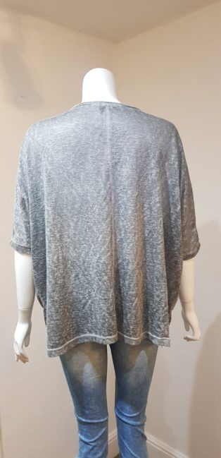April Vintage – V.neck Wide cut T.Shirt – Grey