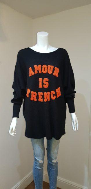 "Laetitia Mem – ""Amour Is French"" – Black"
